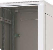 Stojanový rozvaděč Triton RMA, šedý RAL7035 se skleněnými dveřmi