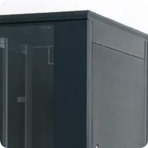Stojanový rozvaděč Triton RMA, černý RAL9005 se skleněnými dveřmi