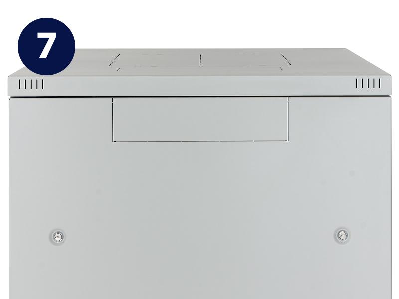 Otvor pro ventilační jednotku stojanového rozvaděče Triton RMA